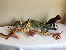 Mixed Lot Of 11 Plastic Dinosaurs Pretend Play Daycare Preschool T Rex