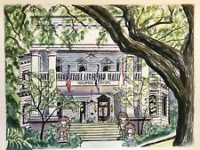 THE COLUMNS HOTEL Mixed Media Watercolor Painting New Orleans K Jones