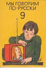 Wir sprechen russisch 9. Klasse, DDR-Lehrbuch, Volk u. Wissen Berlin 1986