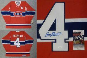 Autographed Jean Beliveau Montreal Canadiens Jersey JSA