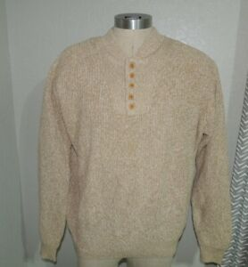 Mens LARGE - CABELAS Pullover Cotton SWEATER