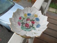 Vintage  Japan Hand Painted Floral Leaf Trinket Dish>>LOVELY!!