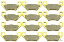 12 Front Rear Brake Pads For Arctic Cat 650 H1 Auto 2004 2005 2006 2007 2008 SET
