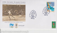 1996 Olympics HUNGARY OFFICIAL INTERNATIONAL OLYMPIC COMMITTEE FIRST DAY COVER