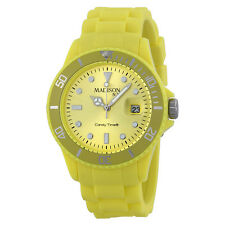 Madison Candy Time XL Light Yellow Mens Watch U4167-21-1