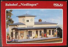 """POLA 551 - Bahnhof """"Niedlingen"""" - Spur H0 - Eisenbahn Modellbausatz - Model Kit"""
