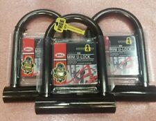 3 LOT Bell-Catalyst-200-Pocket-Bike-U-Lock-Cycle-Security level-4 Black w/2 Keys