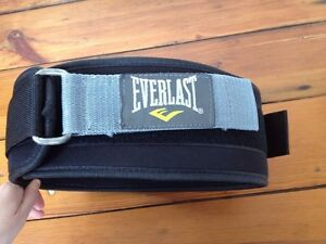 Everlast Weight Lighting Belt One Size Adjustable Unisex Free Size Black