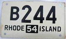 WHEATIES MINI LICENSE PLATE (TAG) RHODE ISLAND 1954