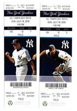 Alex Rodriguez Home Run 598 Yankees 7/18 Ticket Stub HR