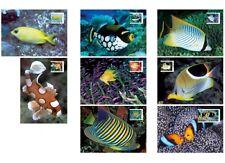 Australia 2010 MAXI Fishes of Reef Part 2 8v Maxicard Set Angelfish Triggerfish