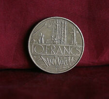 1975 France 10 Francs World Coin KM940 Electric Plant wires towers French