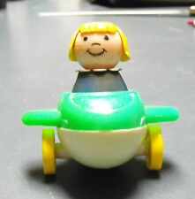 VINTAGE FISHER PRICE PLANE & LITTLE PERSON LADY WOMAN GIRL