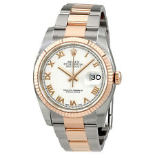 Rolex Oyster Perpetual Datejust 36 White Dial Stainless Steel and 18K Everose
