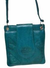 Genuine Leather Handbag Moroccan Purse Shoulder Bag Tooled Leather Med Turquoise