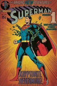 DC Comics Superman Comic Cover Art Poster 24 X 36 Kryptonite Nevermore new