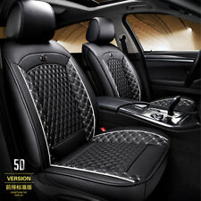 Black PU Leather Car Seat Covers Front Rear Full Surround Split type Breathable