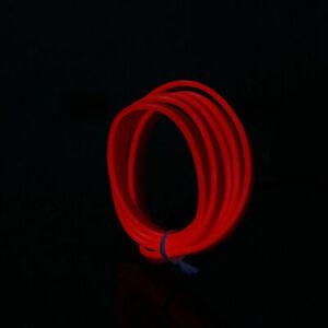 1m-5m Neon LED Light Glow EL Wire Lamp Strip Tube Decor Car Party USB Controller