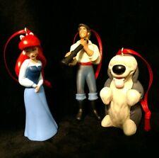 Disney the Little Mermaid 30th Anniversary Christmas Ornament Ariel, Eric Dog