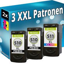 XL TINTE PATRONEN für CANON 2x PG510 CL511 PIXMA MP240MP250 MP280 MP495 MP270