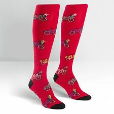 Sock It To Me Women's Funky Knee High Socks - Tour de Neighbourhood