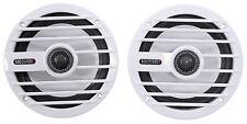 """Pair MB QUART NKF116 6.5"""" 100 Watt 2-Way Nautic Marine Boat Audio Speakers White"""