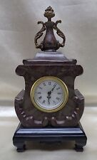 Antique/ European Style Marble Clock w. Elegant Decorative Urn Top