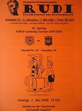 Programm Rudi 2004/05 Hausdorfer SV - Dresdner SC