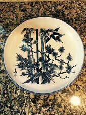 "Vintage Japanese EXPORT Porcelain Bowl BLUE WHITE Imari Unused Hand Painted 12"""