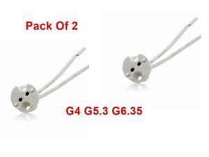 Halogen Light Bulb Lamp Holder G4 G5.3 G6.35 Ceramic x2