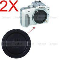 2x Camera Body Cover Cap for Panasonic LUMIX G10 G7 GF6 GF7 GM1 GM5 GX7 GX8