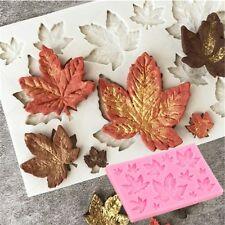 1Pcs  Maple Leaf Shaped Silicone Cake Fondant Chocolate Mold Baking Decor Tools