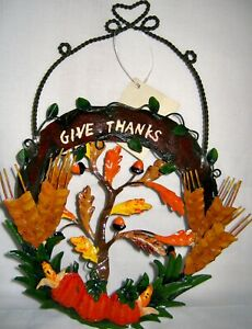 """6"""" Harvest Metal Wall Hanging - NWT"""