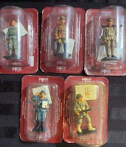 5 x Del Prado Men at War Military Figures World War 1 and 11 Sealed