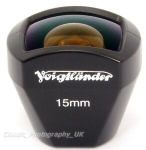 Voigtlander Super Wide-HELIAR 15mm F4.5 & other 15mm Lenses ft Shoe Mount FINDER