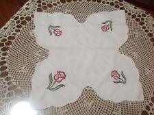 New listing 2 Vintage Embroidered Floral Bread Basket Liners