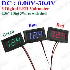 DC 12V-24V Car Motorcycle LED Panel Digital Voltage Meter Display Voltmeter RGB