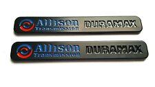 2 Black Allison Duramax Diesel Silverado GMC Sierra 2500 3500 Truck Emblems