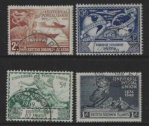 Solomon Islands SG 77 - 80 Universal Postal Union Set Fine Used Cat £5.50