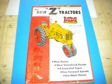 Minneapolis Moline Z Tractor brochure