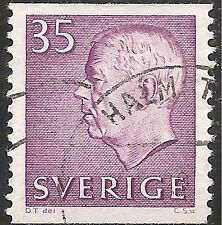 "Sweden Stamp - Scott #576/A132 35o Lilac ""Gustaf Vi Adolf"" Used/Lh 1961"