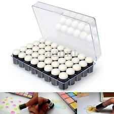40pcs Finger Sponge Dauber Paint Ink Pad Stamping Brush Craft With Storage Box