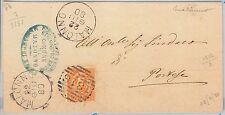 Brescia --- ITALIA REGNO:  storia postale - BUSTA / LETTERA : Malonno 1880