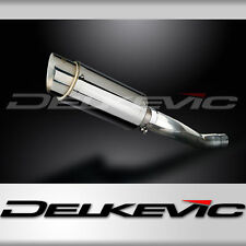 """Yamaha TDM850 Mini 8"""" Stainless Round Muffler Exhaust 91-94 95 96 97 98 99 00 01"""