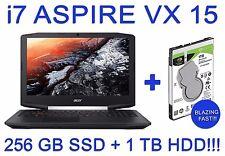 Acer Aspire VX 15, 1TB + 256GB SSD, Intel i7, 16GB DDR4 RAM, NVIDIA 4 GB Graphix