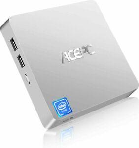 ACEPC T11 Plus Mini PC HDMI/VGA Port 4K HD 4GB/64GB eMMC 2.4/5G Z8350 Silver