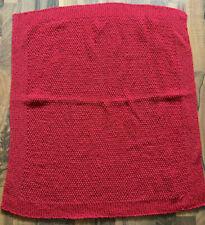 NEU Baby Strickdecke 65 x 67 cm Rot selbstgestrickt Decke