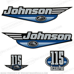 Johnson 1999-2000 OceanPro 115hp Outboard Decal Kit - You Choose Color! Decals