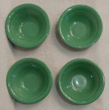 "Vintage Homer Laughlin Harlequin Green, 6 1/4"" Oatmeal, Fruit Bowls, Woolworth's"