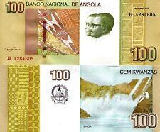 Angola 100 Kwanzas Banknote World Paper Money Unc Currency Pick p153 Note Bill